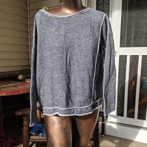 🌻 Gray sweater sweatshirt boxy crop Max studio m